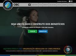 Website OBC - Organização Brasileira de Cabeleireiros